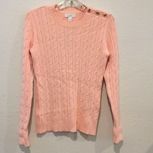 Charter Club Petite Cable Knit Sweater